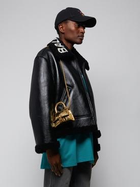 Gold Croco Mini Hourglass Bag