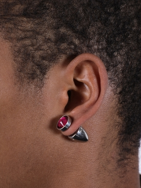 Crystal plug earrings