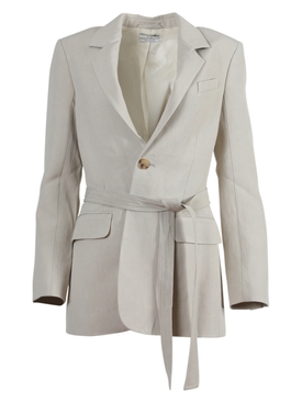 Taupe Warp-Around Blazer