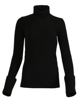 Knit Turtleneck Top, Fondente Brown