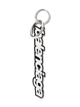 Black and white logo key chain