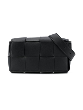 Intrecciato belt bag BLACK-GOLD