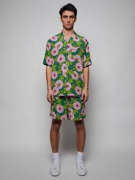 X Ken Scott Silk Floral Print Shorts