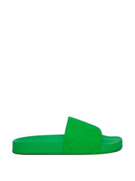 Rubber intreccio slide sandal Grass