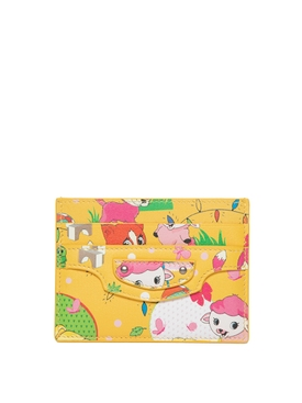 Puppies and Friends Cardholder Yellow