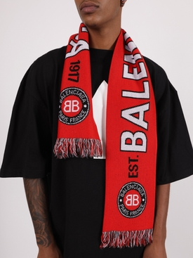 Red and Black Soccer Scarf
