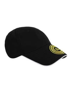 Black and yellow soccer cap