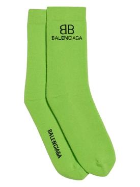 BB logo socks Green/black