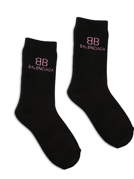 Balenciaga Classic BB Logo Socks Black