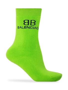 Classic BB Logo Socks Green
