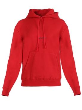 Crimson logo hoodie