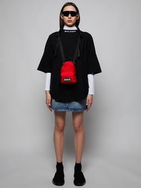 Mini 5 Pocket Logo Print Skirt, Dark Blue