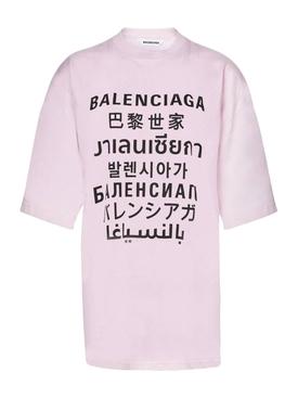Languages t-shirt pINK