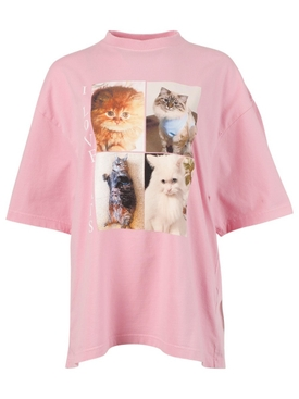 I LOVE CATS T-SHIRT, PINK