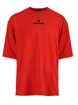 Vermillion red logo t-shirt