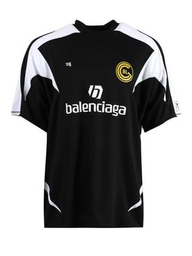 Black and White Soccer T-shirt