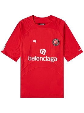 Red and White Soccer T-shirt