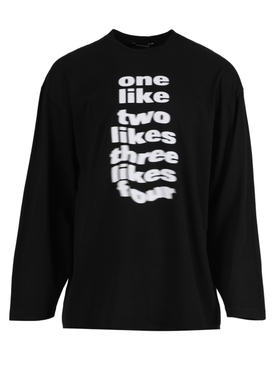 Black and White Long-sleeve T-shirt