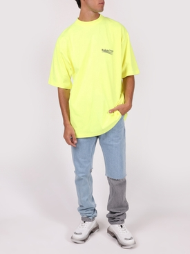 Large Fit T-shirt, Fluorescent Yellow