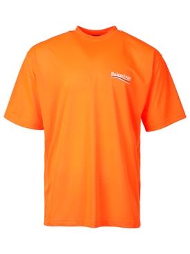 Oversized Logo T-shirt Fluorescent Orange