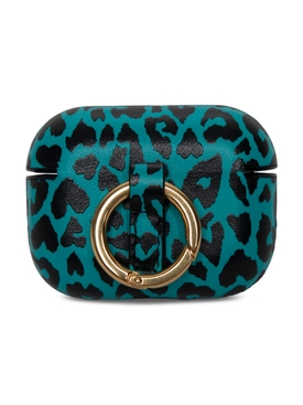 Leopard Print AirPods Pro Case, Aqua and Black