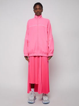 Fleece tracksuit jacket FLUORESCENT PINK