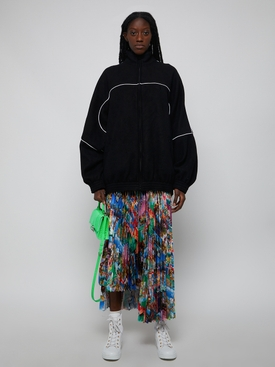Fleece tracksuit jacket BLACK