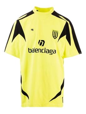 Soccer T-shirt, Acid Yellow