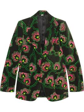 x Ken Scott floral velvet jacket