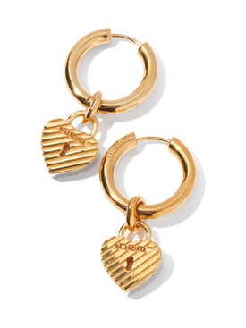 Force heart lock earrings