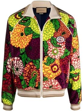 x Ken Scott floral bomber jacket