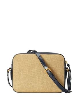 Horsebit 1995 Shoulder Bag, Navy Leather & Canvas