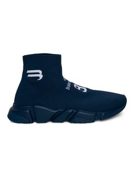 Speed LT Soccer sneaker Navy and White