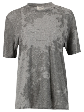 TIE DYE SMOKE EFFECT LOGO T-SHIRT, GREY