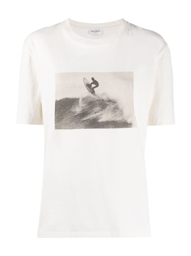 Graphic Print Surf T-shirt