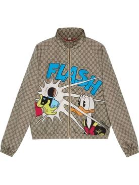 X Disney Donald Duck Logo Print Bomber Jacket