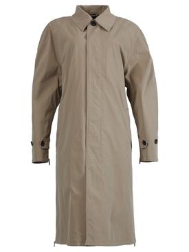 Beige zip carcoat