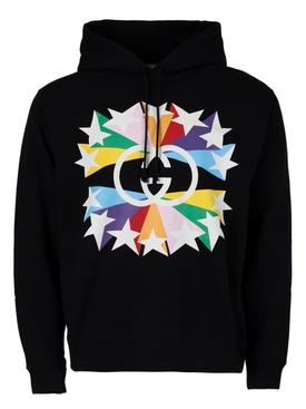 Rainbow Logo Hoodie Jumper Black