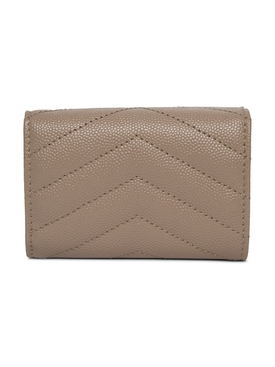 Origami Tiny Wallet, Dark Beige