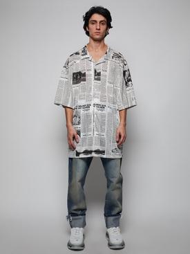 Newspaper print shirt