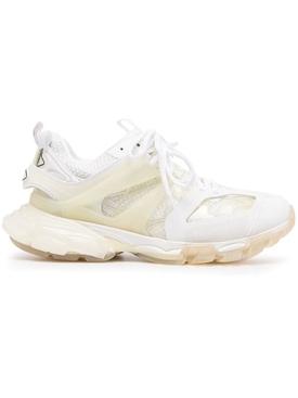 Track Clear Sole Sneaker, Cream White