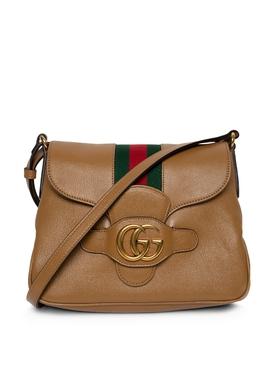 Small Dhalia Messenger Bag Brown