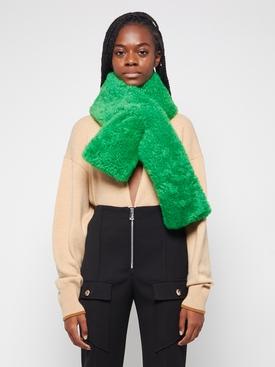 Teddy Shearling scarf PARAKEET GREEN