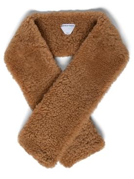 Teddy Shearling scarf CAMEL