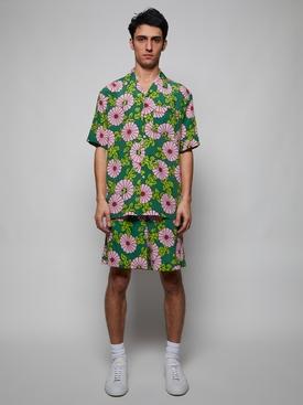 X Ken Scott Silk Crepe Floral Bowling Shirt
