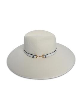 Wide-brim horsebit hat