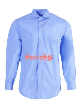BLUE AND ORANGE SUCCESS SHIRT