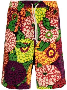 x Ken Scott floral track shorts