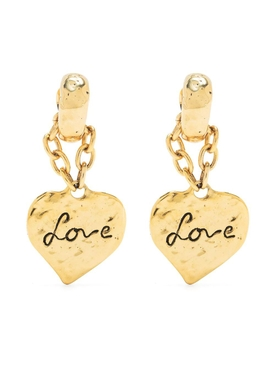Love Heart Pendant Earrings