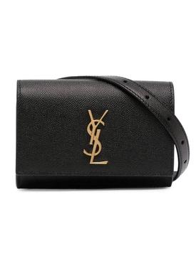 Mini Kate Leather Belt Bag, Black